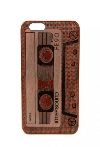 Iphone 6 Wooden Phone Case - Casette Tape
