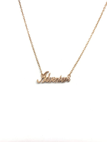 Adventure Script Necklace