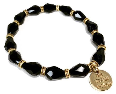 Black and Gold Swarovksi Crystal Bracelet