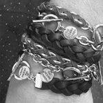 Black Braided Wrap Genuine Leather Bracelet