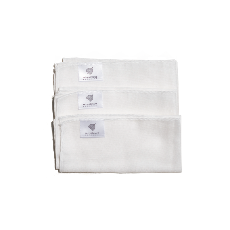 100% Organic Cotton Muslin Cloths