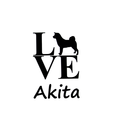 "48 Different Dog Breed Silhouettes ""LOVE"" Vinyl Sign Decal With Breed Name or Personalized"