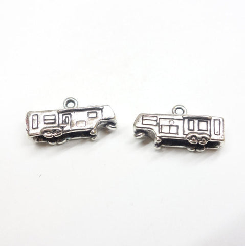 3D Sterling Silver 5th Wheel RV Charm