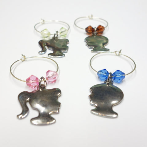 Boys Vs Girls Set Of 4 Wine Glass Charms