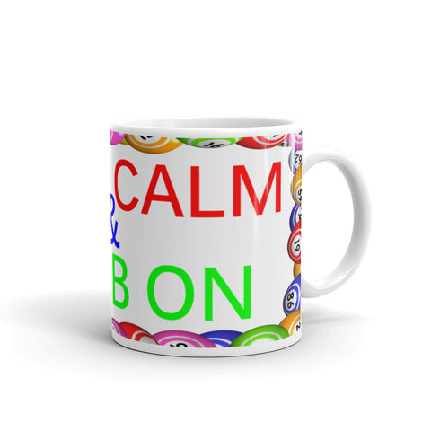 BINGO Mug, Keep Calm and Daub On, Ceramic Coffee Mug
