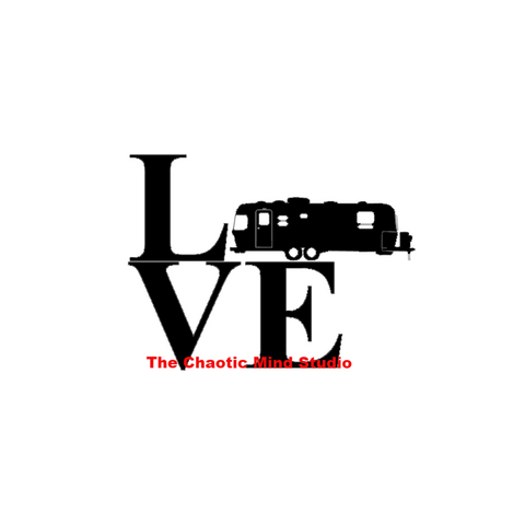 "Airstream ""LOVE"" Travel Trailer RV Decal"