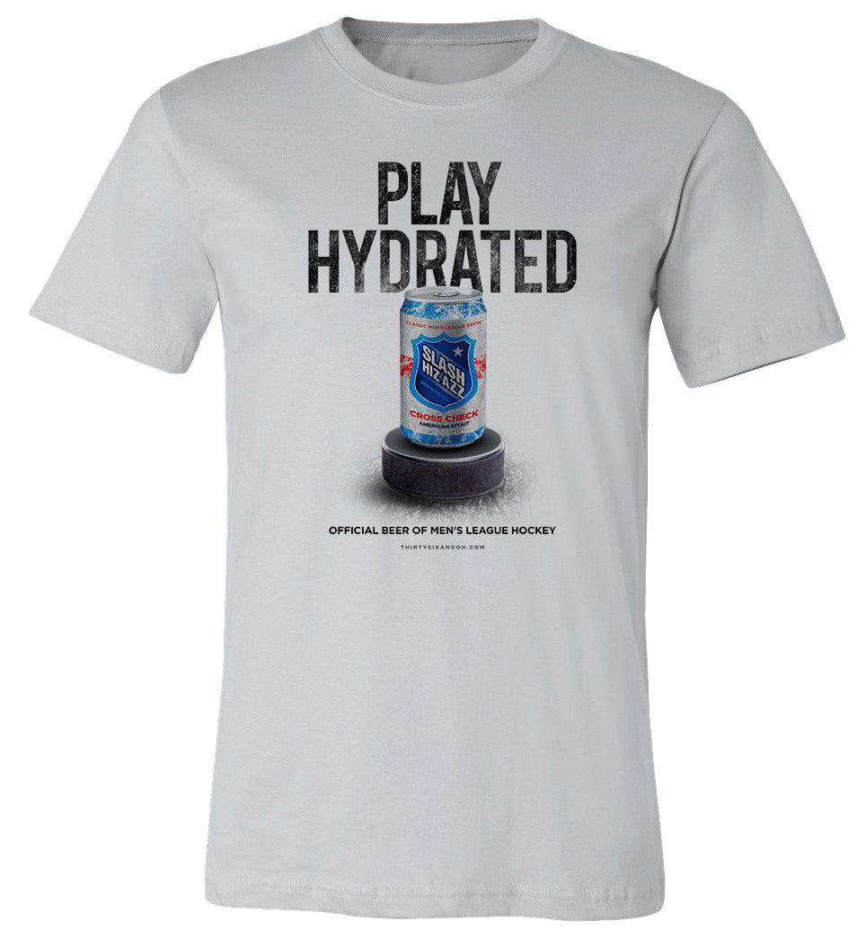 Play Hydrated. Men's League Hockey T-shirt