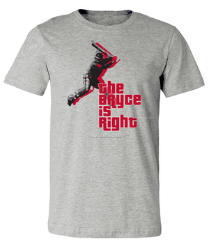 Bryce Harper- The Bryce Is Right Tee - Thirty Six and Oh!