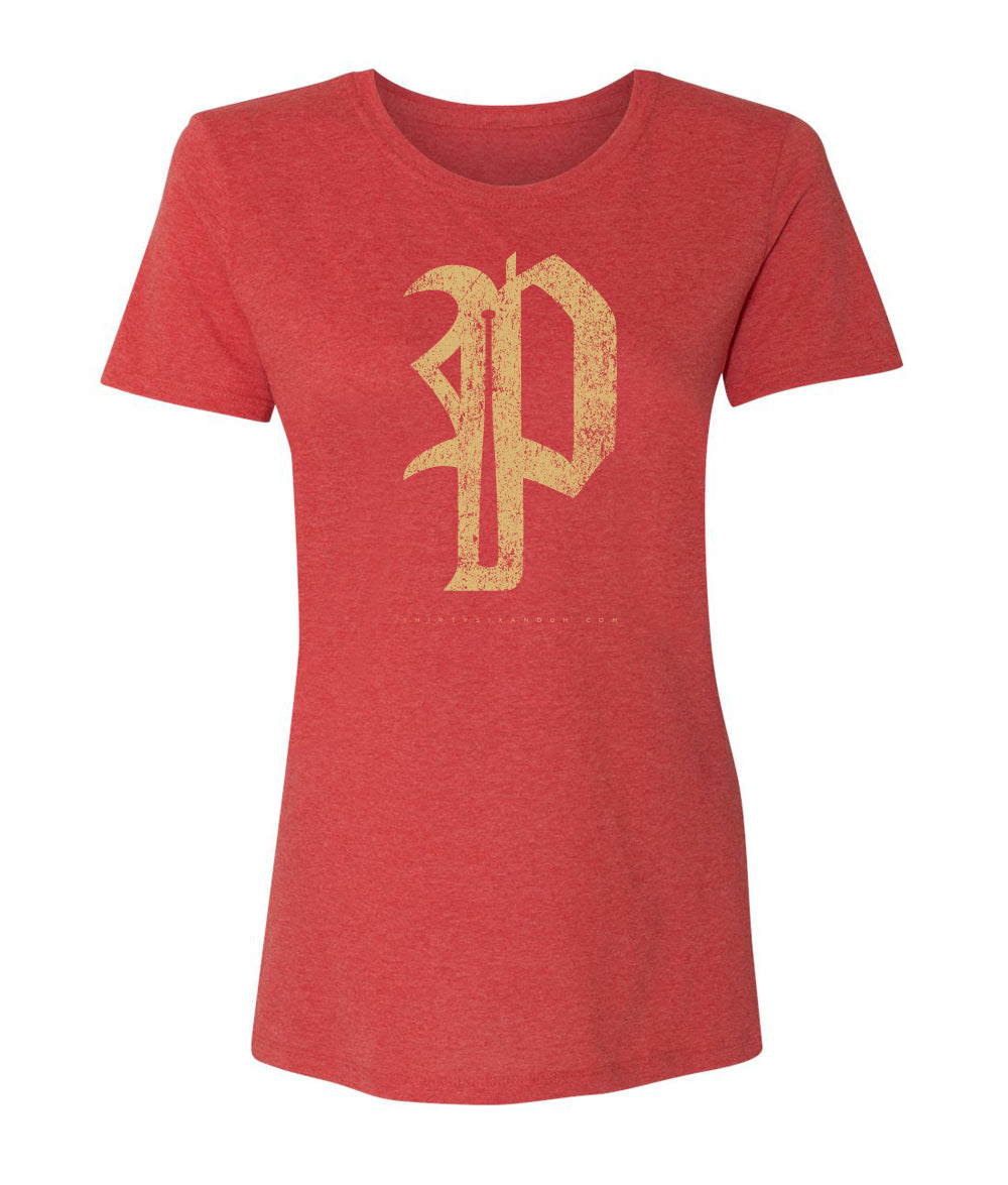 "WOMEN'S PHILLIES ANTIQUE ""P"" SOFT STYLE - Thirty Six and Oh!"