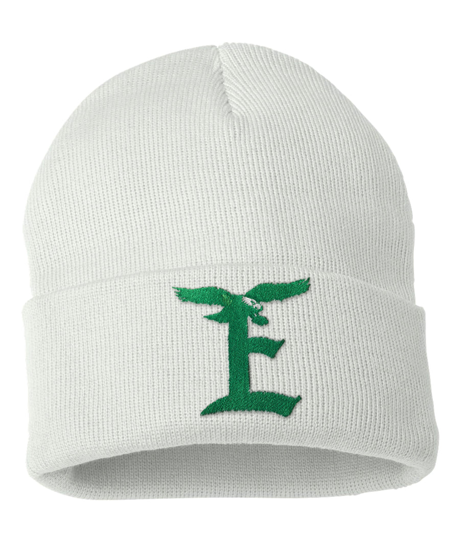 EAGLE E BEANIE SOFT WHITE