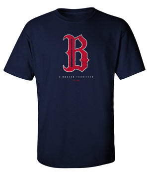 Boston B Baseball T Shirt Mens Vintage - Super Soft Style