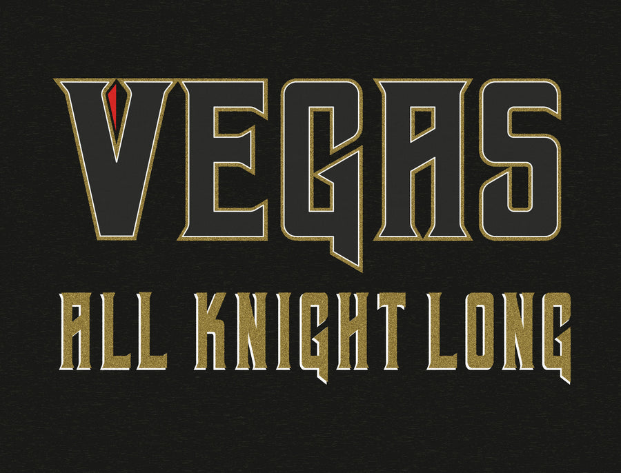 Vegas All Knight Long Hockey T-Shirt - Thirty Six and Oh!