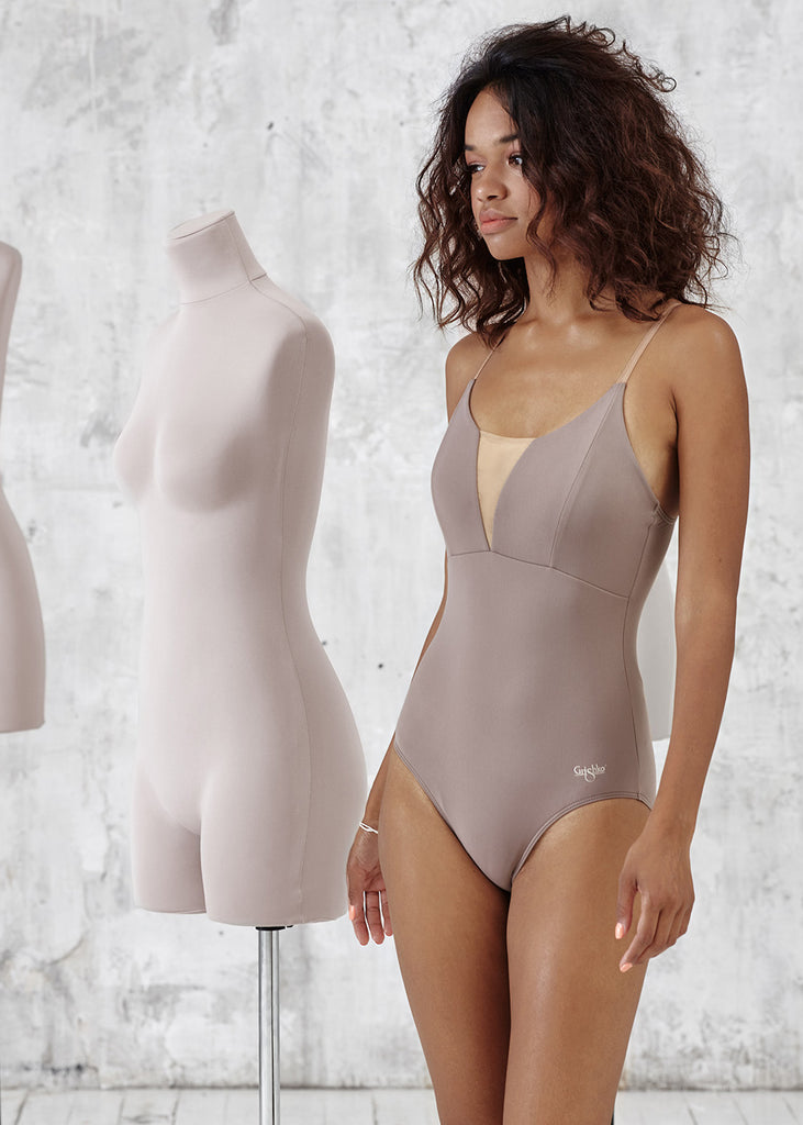 LEOTARD WITH STRAPS WITH LINING- new collection