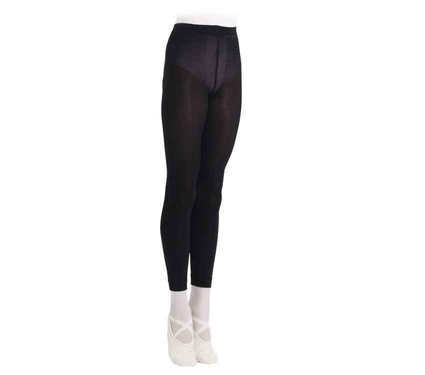 Girls footless tights Black