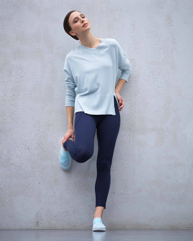 Wide sweater with side slit- new collection