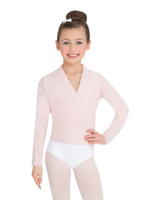LONG SLEEVE WRAP SWEATER - CHILD