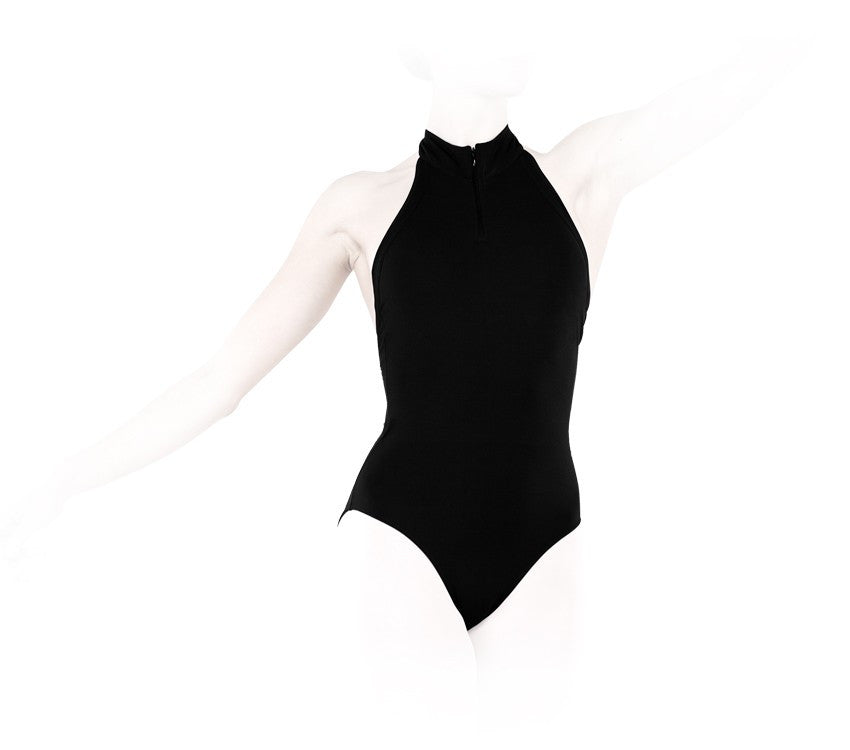 Leotard with high neckline