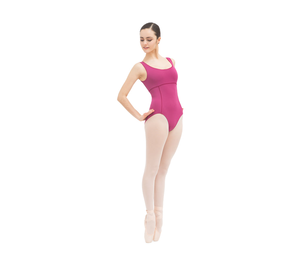 Leotard with wide straps and mesh details-new stock arrived