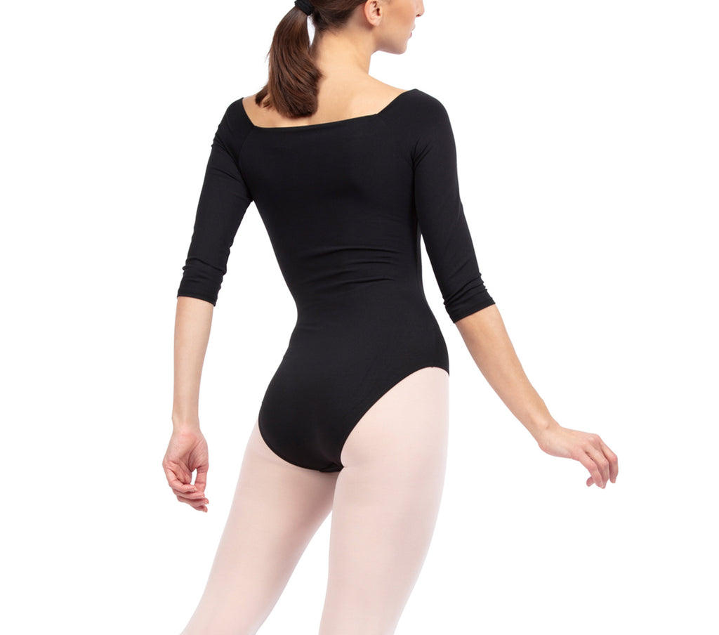3/4 sleeve leotard-  Black- new arrivel- Amazing