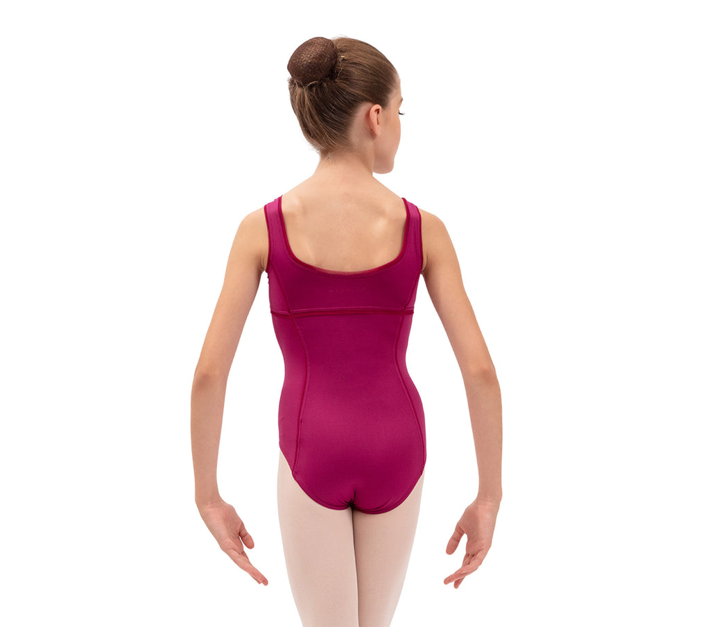 Leotard with large straps - Girls