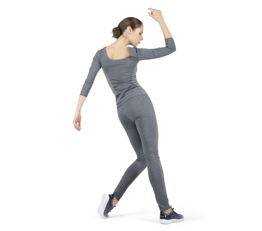 Legging with breathable mesh