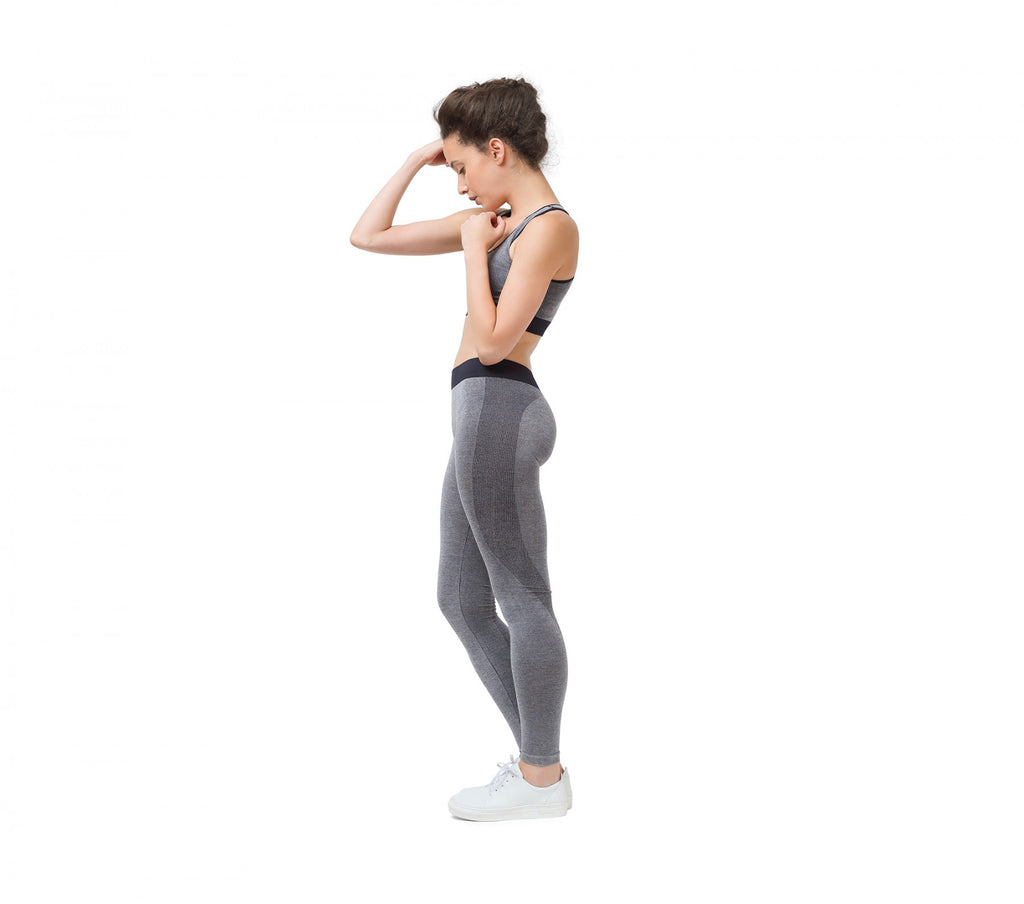 Heathered seamless leggings