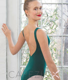 Studioline deep V-back tank leotard