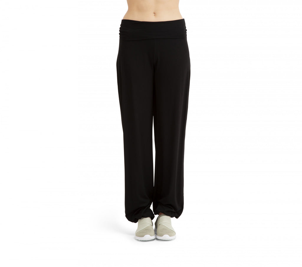 Viscose waist jazz pants