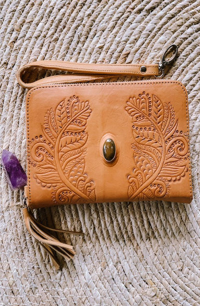Rayen Leather Wallet | Bohemian Leather Wallet by Tonketti