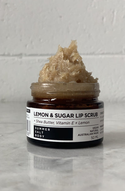 Lemon and Sugar Lip Scrub