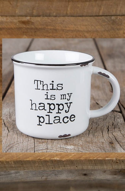 Happy Place Camp Mug | Perfect Mug For Sitting Around The Fire During Winter From Tonketti Trading