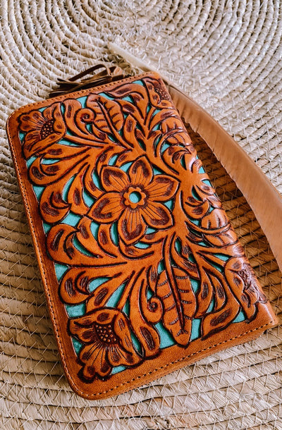 Shannie Floral Wallet | Handmade Leather wallets
