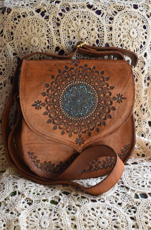 Cher Shoulder Leather Carved Bag ✌🏼- Restocked late November | Bohemian Style by Tonketti