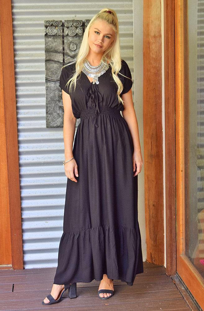 Ebony Sally Dress | Bohemian Style by Tonketti