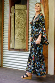 Enchanted Forest Saradon Maxi Wrap Dress