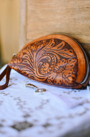 Half Moon Wallet Floral Design - Pre Order | Bohemian Style by Tonketti