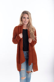 Jess Mohair Cardigan Rust | Warm And Cosy Winter Cardigan From Tonketti