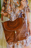 Kaydence Mandala Leather Shoulder Bag | Bohemian Style by Tonketti