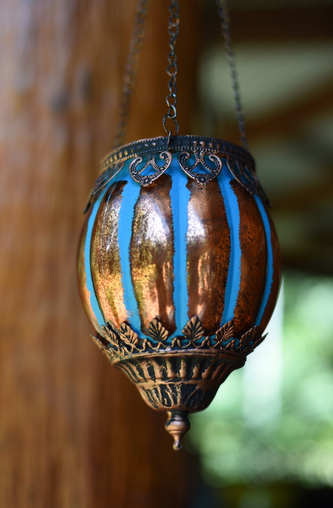 Hanging Votive Classic Blue | Bohemian Style by Tonketti