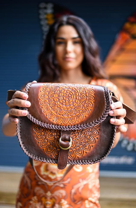 Chicka Retro Leather Shoulder Bag