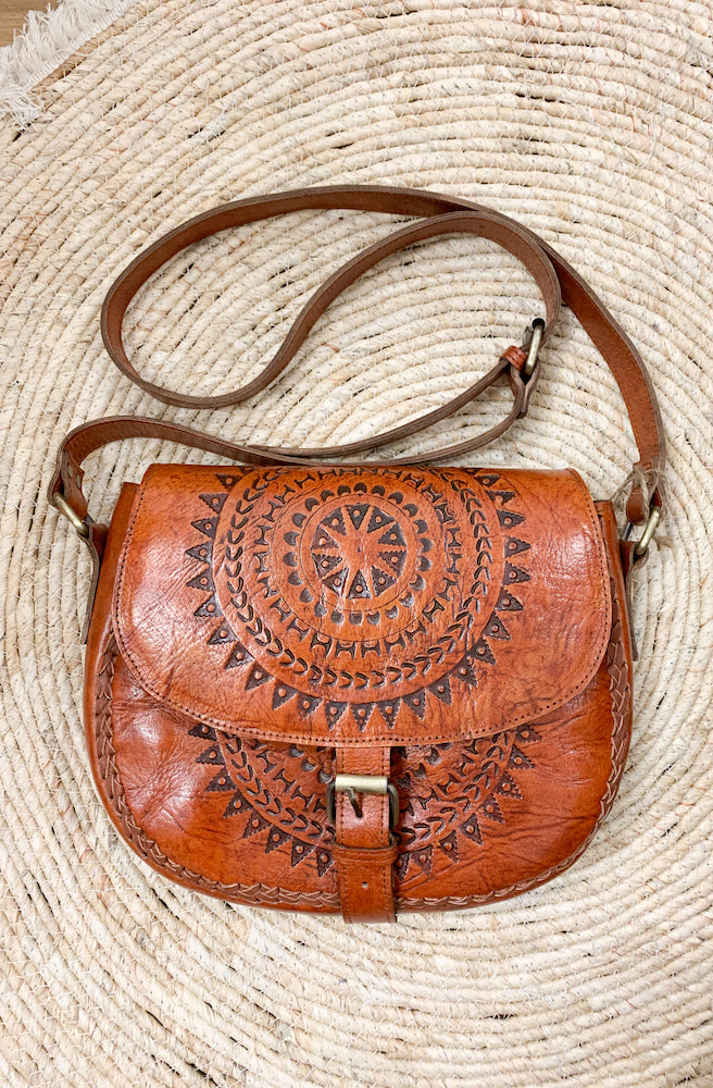 River Tribe Leather Saddle Stitching Bags