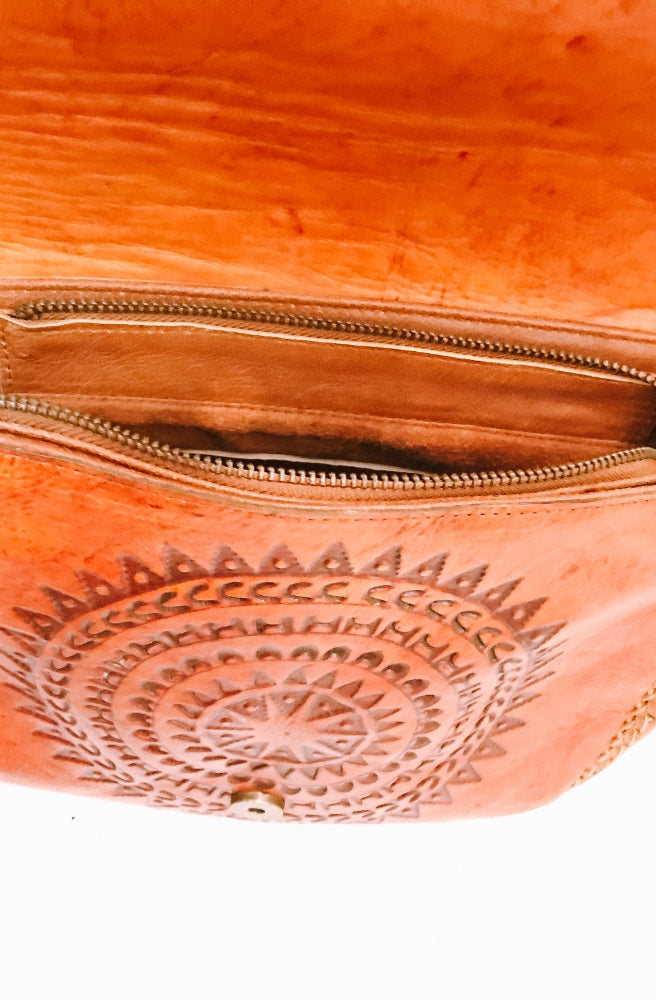River Tribe Leather Saddle Stitching Bags zipper | Tribal Style by Tonketti