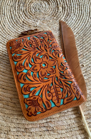 Shannie Floral Wallet | Handmade Leather wallets freont