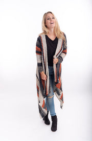 Harper Striped Mohair Jacket | Warm Cosy Mohair Winter Jacket From Tonketti
