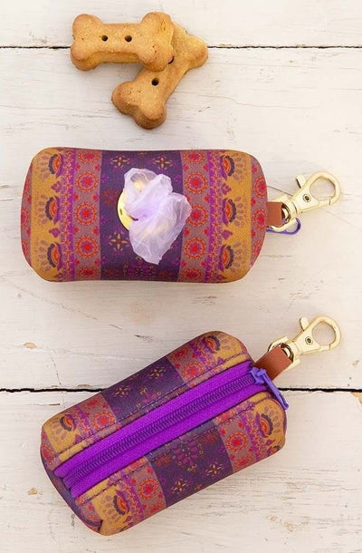 Poop Pouch Plum Border | Adorable Doggie Pouches From Tonketti