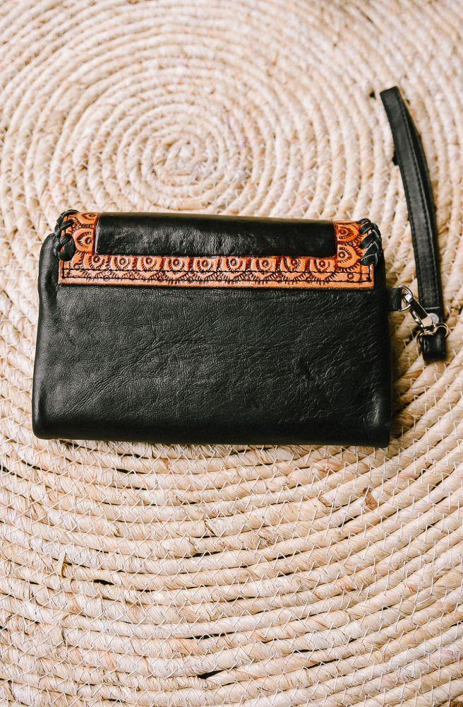 Aria Leather Double Klip Small Wallets