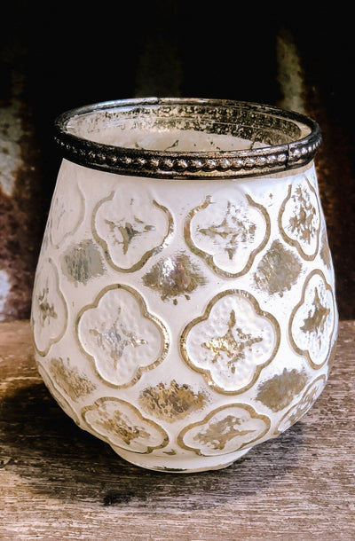 White Votive Candle Holder