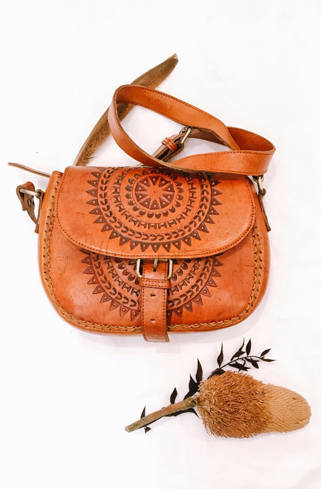 River Tribe Leather Saddle Stitching Bags | Tribal Style by Tonketti