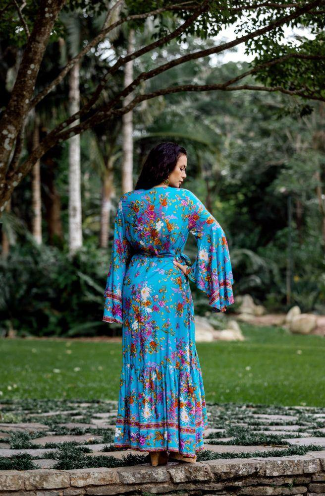 Enchanted Boulevard Saradon Maxi Wrap Dress - Tonketti