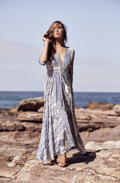 Jaase Denim Dreams Indiana Maxi Dress | Gorgeous Boho Maxi From Tonketti Trading